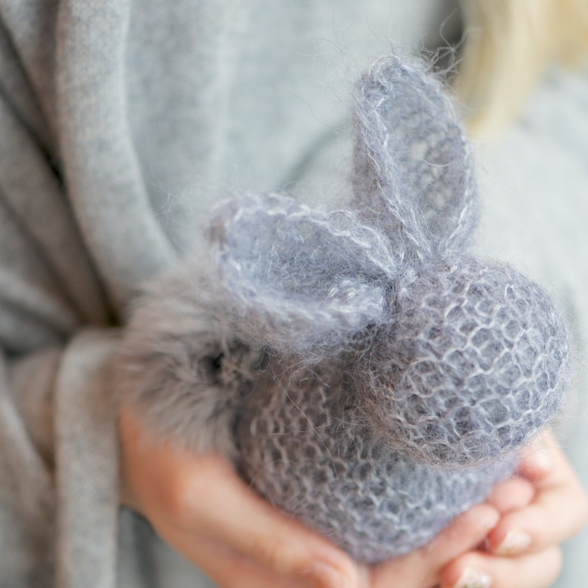 Easy Rabbit Knitting Pattern : Square Bunny Knit Pattern 2