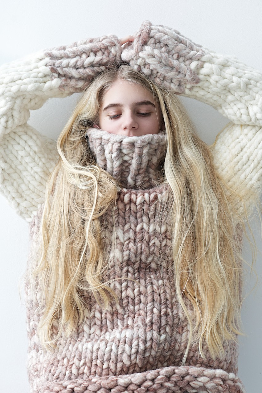 Free Knitting Patterns Chunky Jumper : A Chunky Knit Sweater From Loopy Mango Big Loop And Q&A About This Great ...