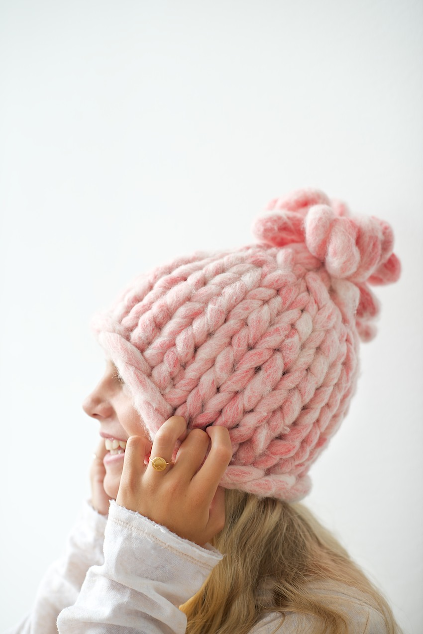 Big loop knitted hat tutorial bankloansurffo Choice Image