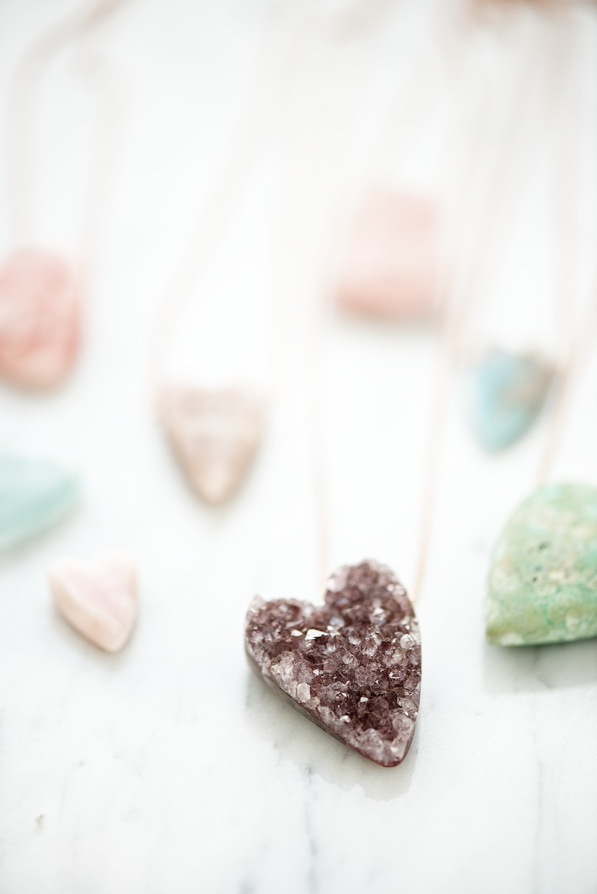 natural gemstone hearts by lebenslustiger.com