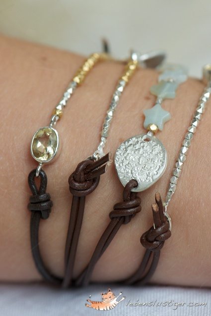 leather bracelet tutorial with a trick