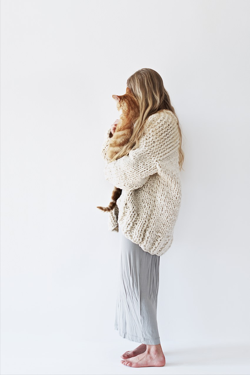 A Chunky Oversized Knit Cardigan Kit