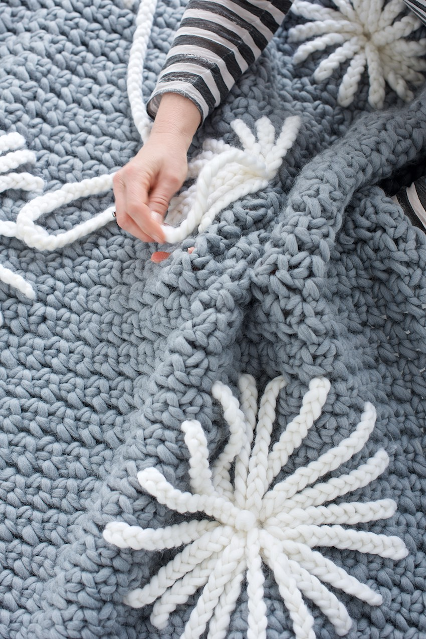 Crochet Blanket Pattern Flowers