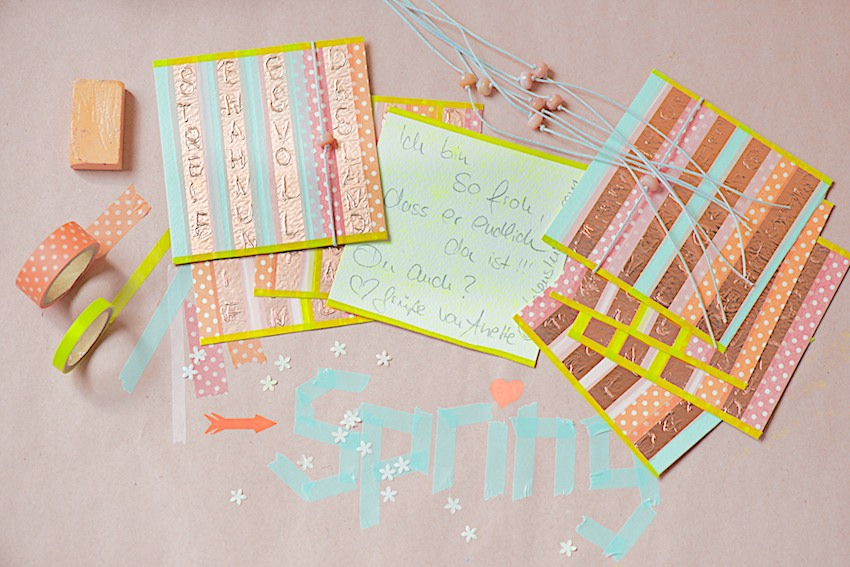 Mailart with copper letters