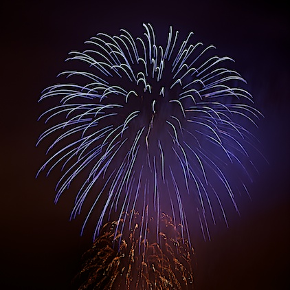 Independence day fireworks, Feuerwerk zum Independence Day