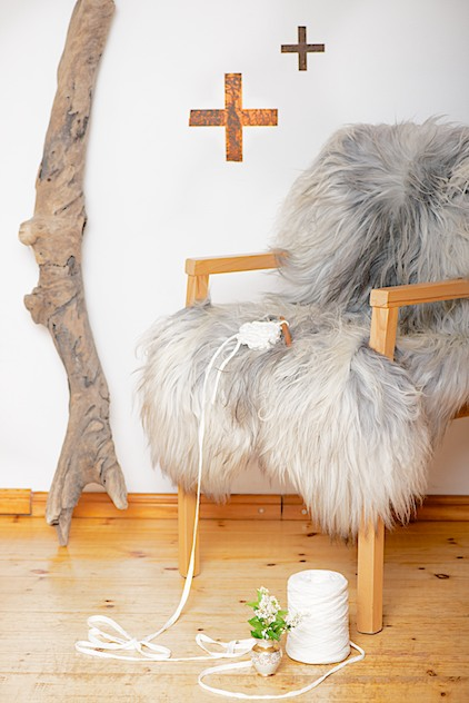 copper and sheepskin, Kupfer und Schaffell